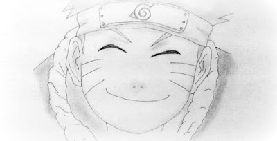Naruto Smiling Face Drawing