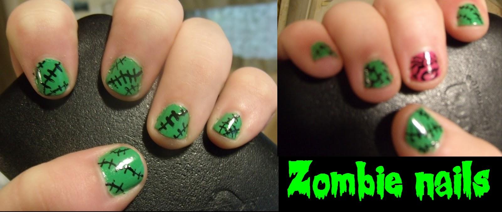 Lipstick Zombie: Halloween nails: Zombie