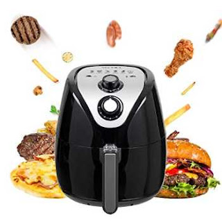 Secura 1500 Watt Large Capacity 3.2-Liter, 3.4 QT, Electric Hot Air Fryer
