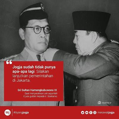 Sri Sultan HB IX dan Presiden Soekarno