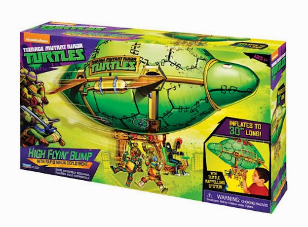 TOYS : JUGUETES - LAS TORTUGAS NINJA  High Flyin Blimp | Vehicle | Teenage Mutant Ninja Turtles  Producto oficial | Playmates Toys | A partir de 4 años