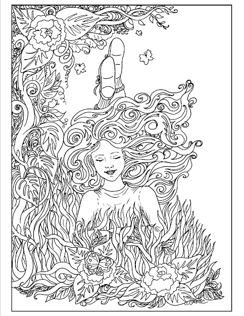 Flowing Lines And Twisting Curling Vines Create Highly Decorative Images  That Spring To Life Adult Coloring Pages Have Grown