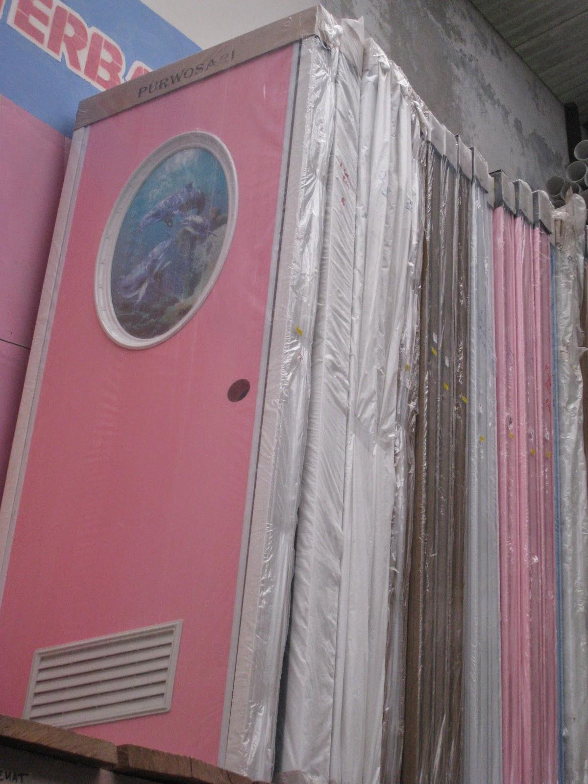 warna warni pintu pvc plastik untuk kamar mandi sederhana
