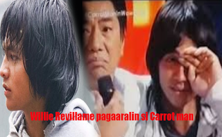 Carrotman cries to Willie Revillame