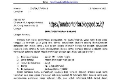 Contoh Surat Penawaran Barang Full Block Style Dalam Bahasa Inggris