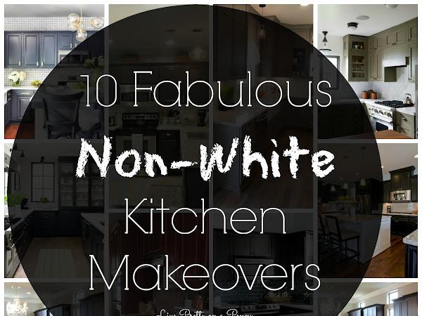 10+ Fabulous Non-White Kitchen Makeovers