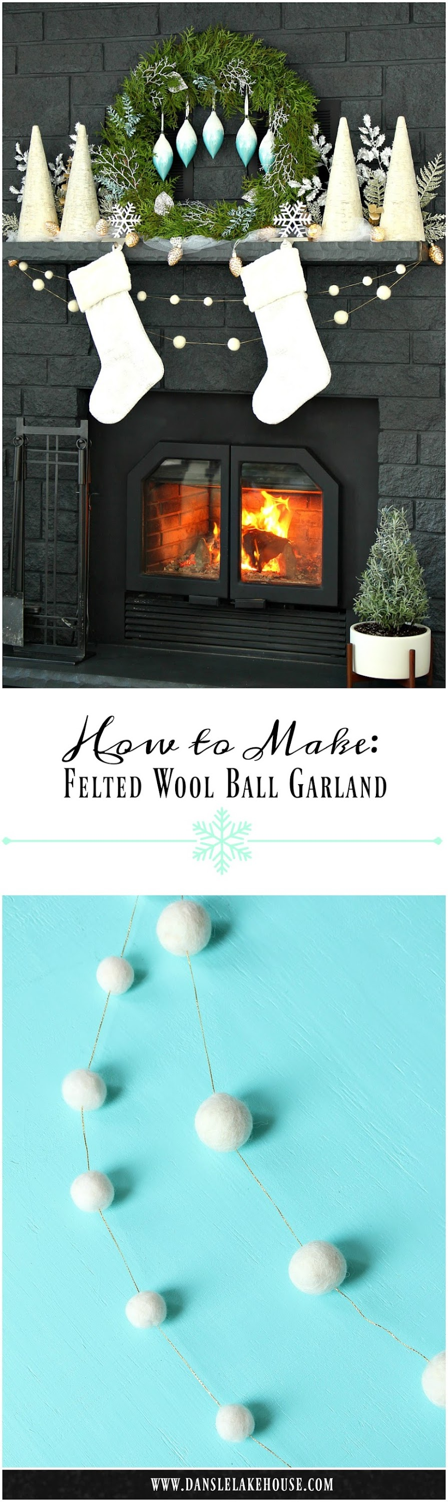 Easy DIY Felted Wool Ball Garland