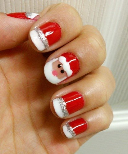 classy and simple christmas nail art designs for stylish