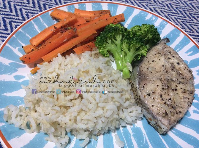 Menu Diet Dinner Ikan Tenggiri Kukus Bersama Brokoli