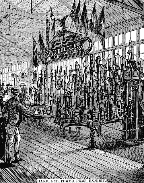 Centennial Exhibition of 1876 pump exhibit