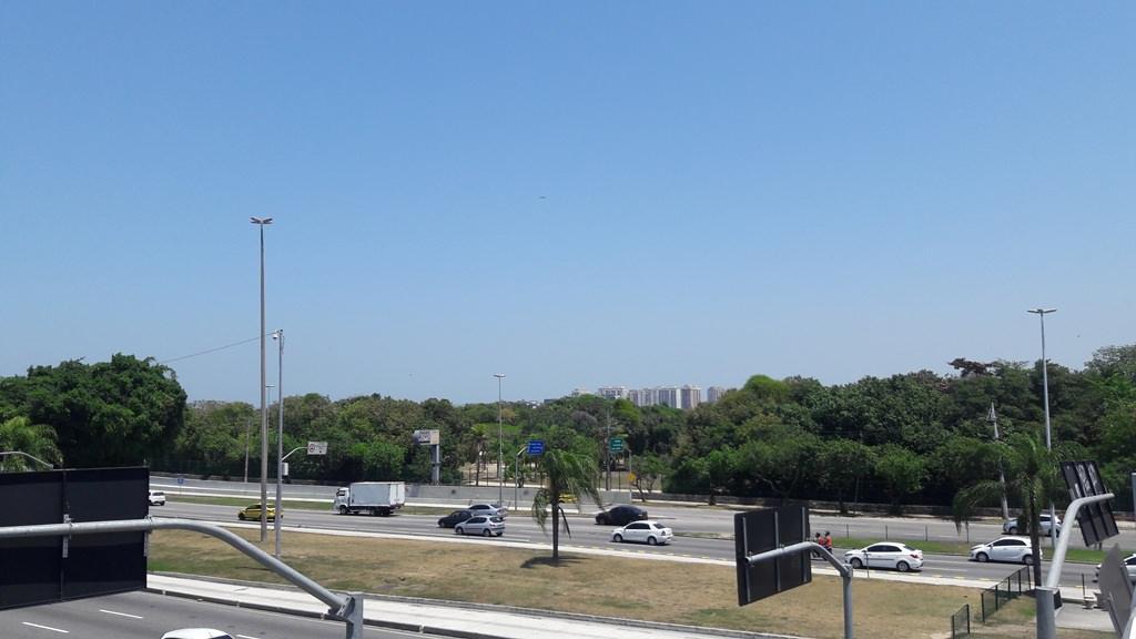 Bosque da Barra visto da Avenida Ayrton Senna
