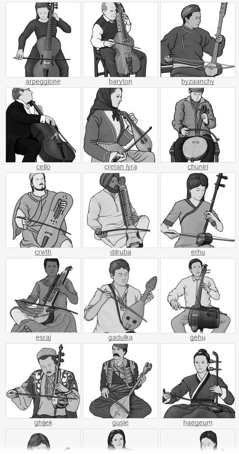 free clip art. stringed instruments bowed string instruments