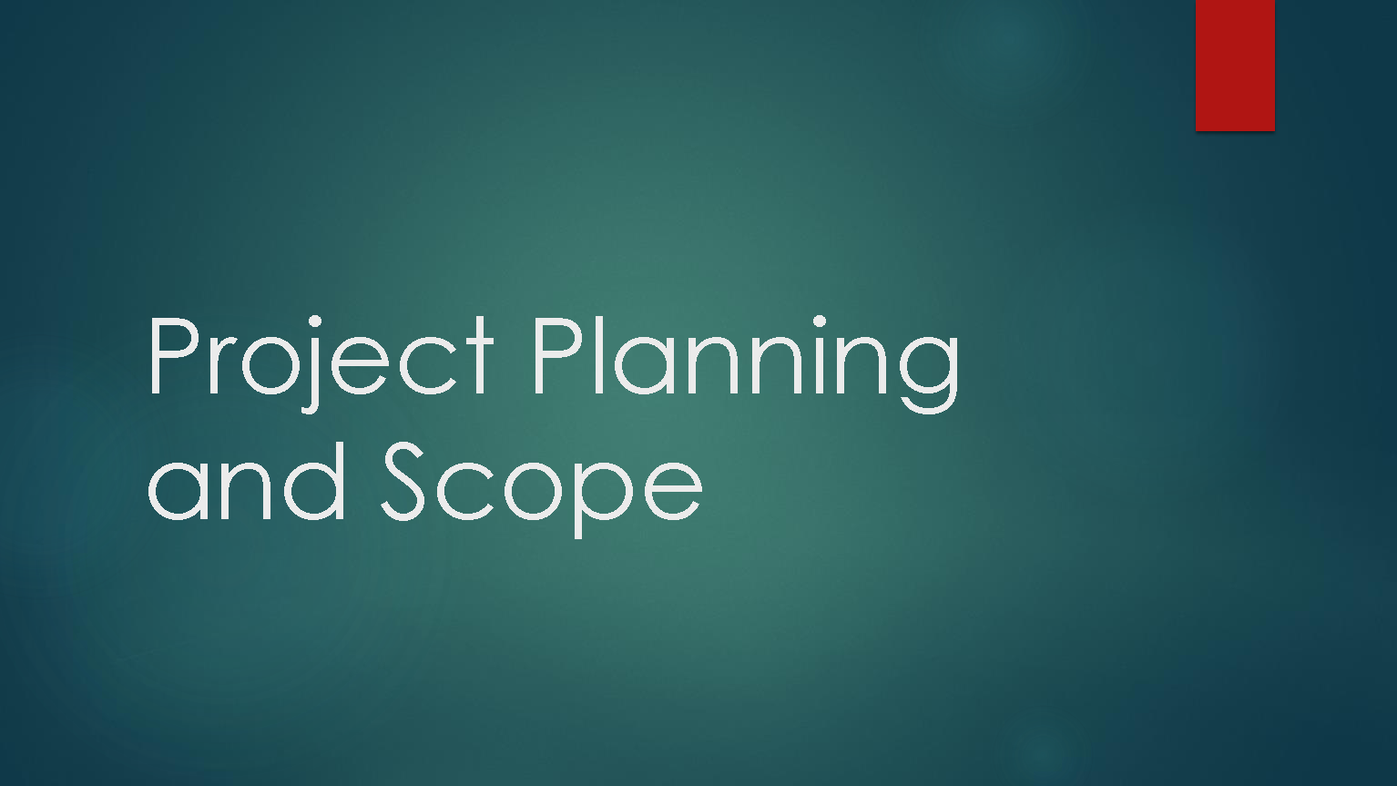 Download Project Planning and Scope pdf