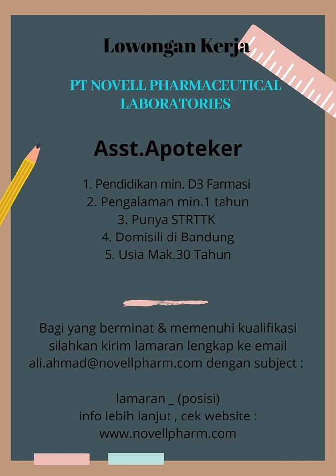 Lowongan Kerja Asisten Apoteker di Bandung - Lowongan ...