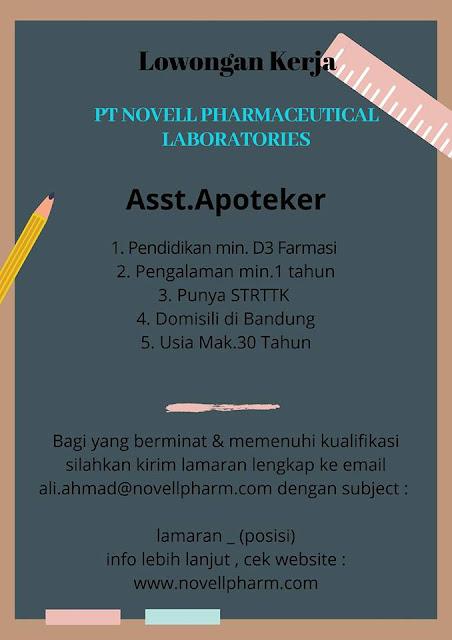 Lowongan Kerja Asisten Apoteker di Bandung