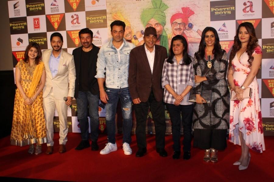 Shreyas Talpade, Sunny Deol, Dharmendra at Poster Boys Trailer Launch