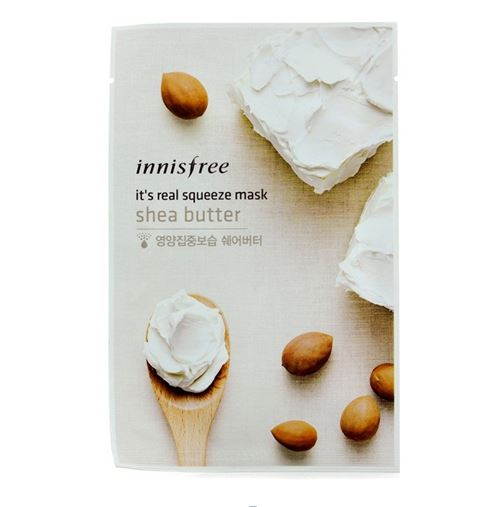 masker-korea-Innisfree-It's-Real-Squeeze-Mask-Shea-Butter