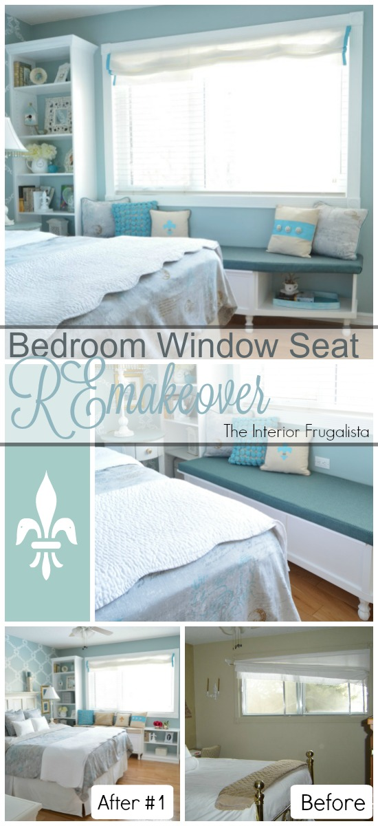 DIY Bedroom Window Seat REmakeover