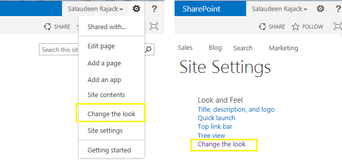 composed look in sharepoint 2013