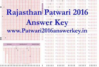 Raj patwar answer key 2016