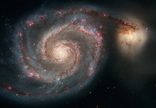 Astronomers find vast ionized hydrogen cloud in 'Whirlpool Galaxy'