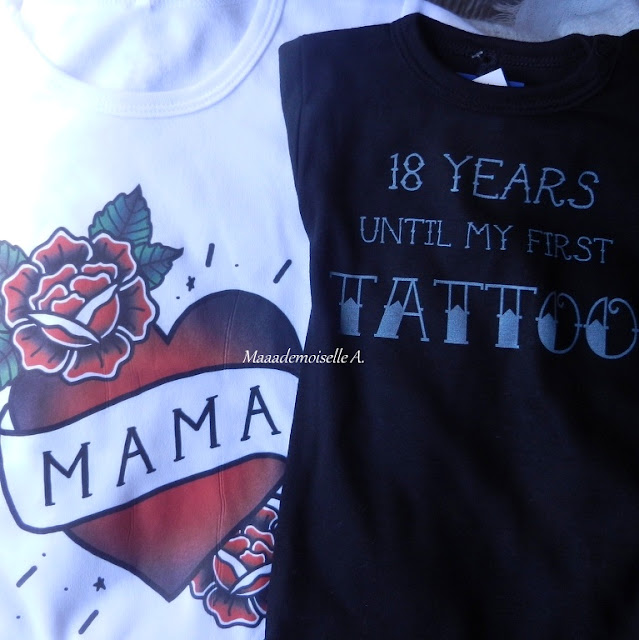 Vêtements enfants tattoos - T-shirt Mama - Body 18 years until my first tattoo