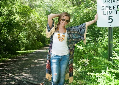 Kimono con flecos como hacerlo