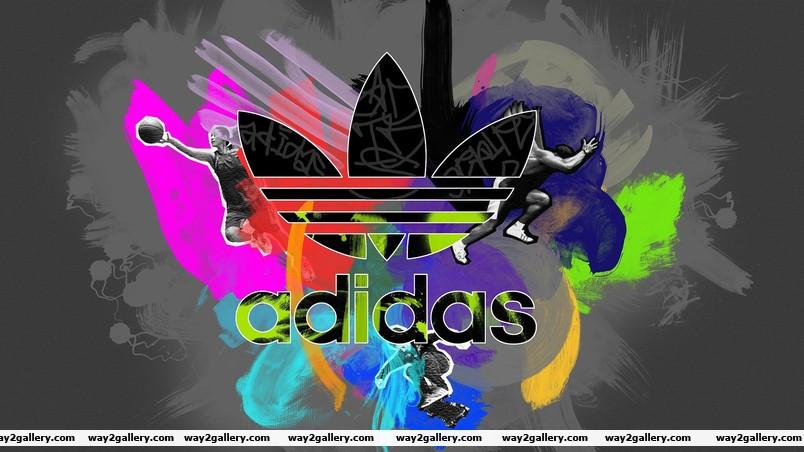 Colorful adidas logo wallpaper