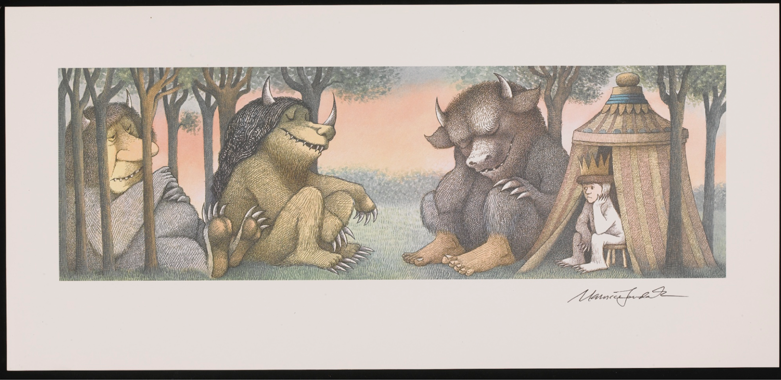 Attempted Bloggery Signed Maurice Sendak Wild Things Prints