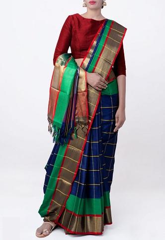 Pure Bangalore Handloom Silk Saree
