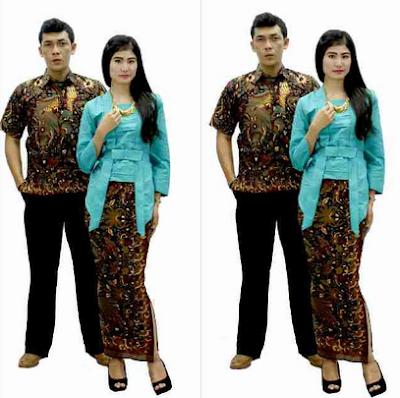 Kebaya batik couple untuk lebaran trend terbaru