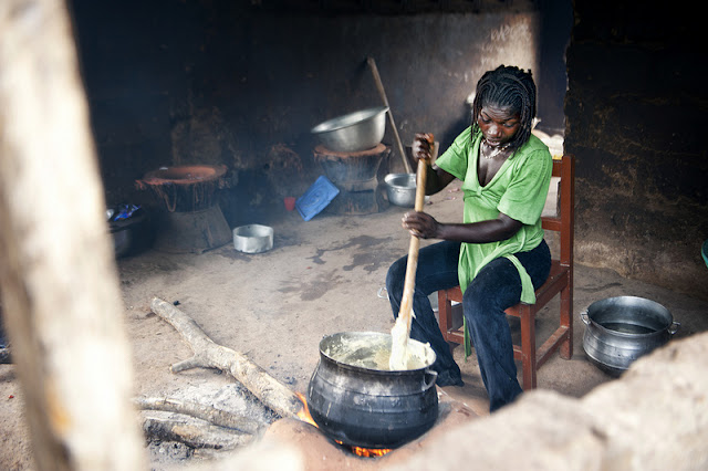 Making Banku in Ghana