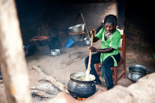 Making Banku in Ghana
