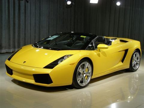 lamborghini gallardo spyder yellow - Yellow Lamborghini Gallardo Spyder Wallpaper