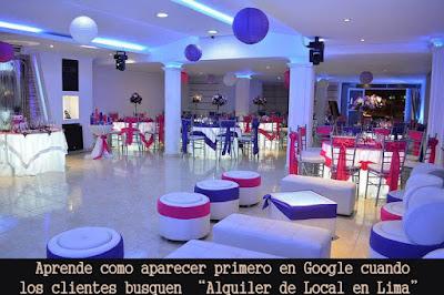 "Como Aparecer primero Google Facebook - Dirigido ""Alquiler de Locales Lima"""