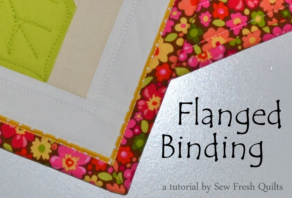 Sew Fresh Quilts: Flanged Binding Tutorial : applying quilt binding - Adamdwight.com