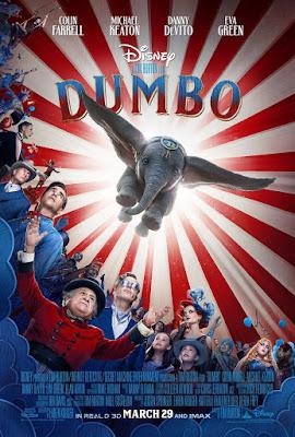 Locandina di Dumbo di Tim Burton, 2019