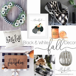 Black and White Fall Decor Finds