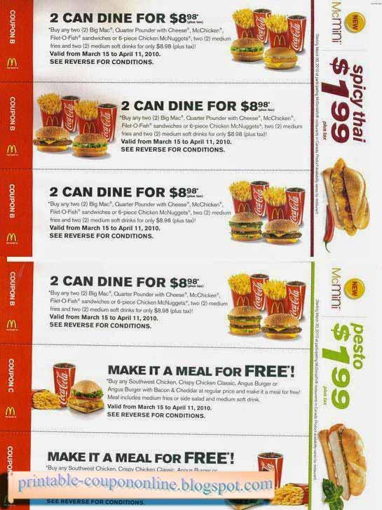 Mcdonalds coupons online deutschland