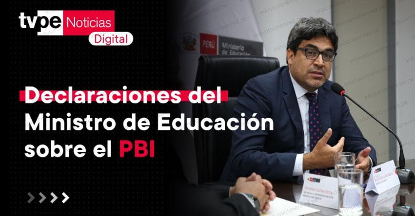 ENTREVISTA MINISTRO MARTÍN BENAVIDES: «Fijar el presupuesto de Educación en relación al PBI es un tema delicado» [VIDEO]
