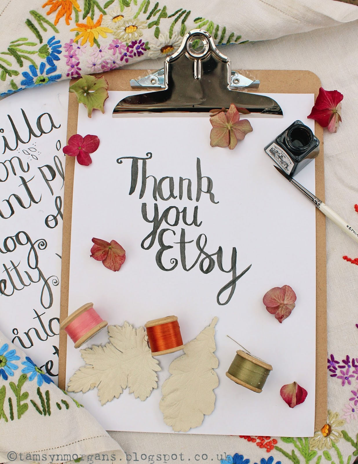 Brush Lettering Workshop with Etsy