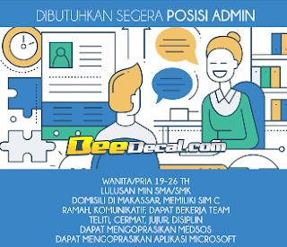 Lowongan Kerja Admin di BeeDecal Makassar