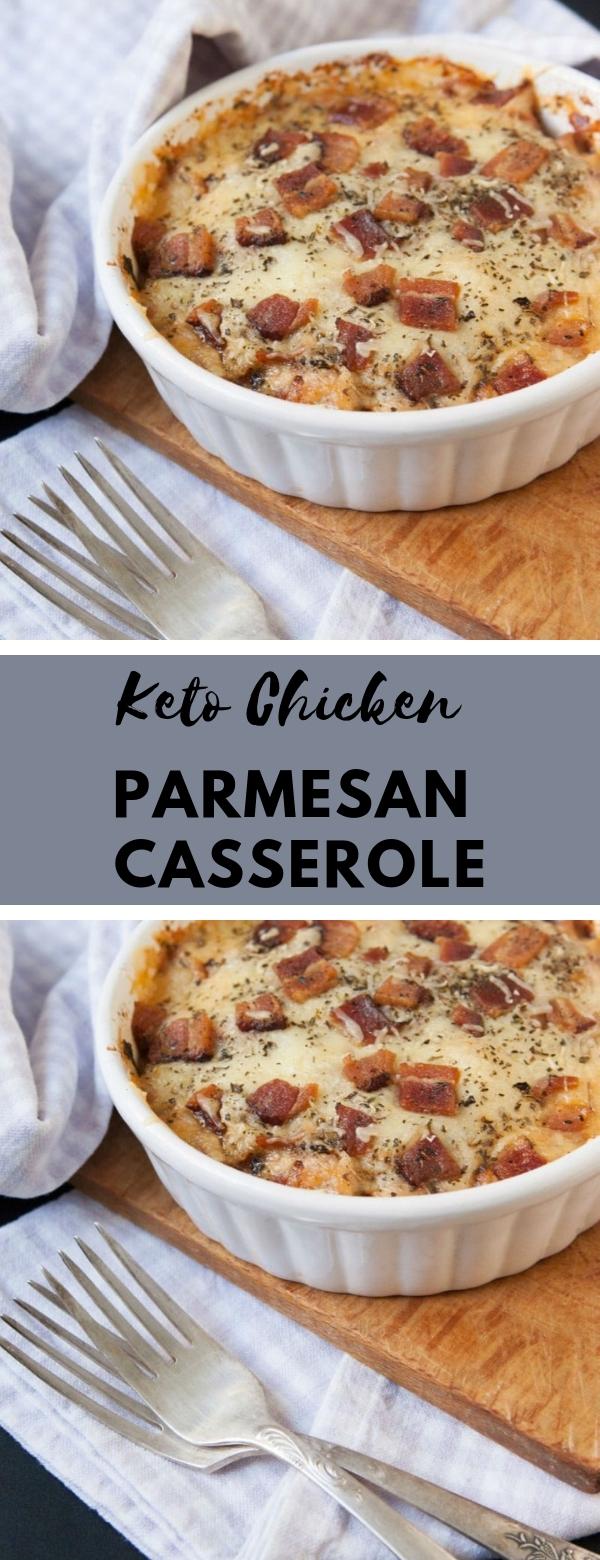 Keto Chicken Parmesan Casserole #dinner #casserole #lowcarb #keto