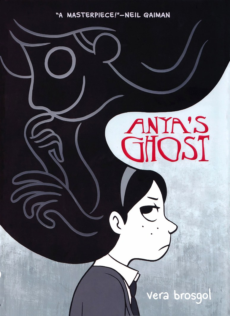 Read Anya's Ghost graphic novel cover page