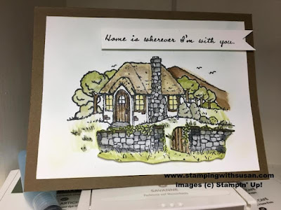 Stampin' Up! Hostess set Cozy Cottage Watercolor Home is where