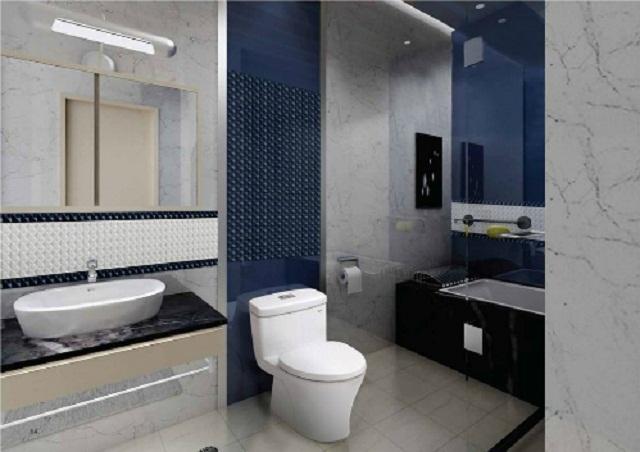 Nhà vệ sinh kết hợp phòng tắm đẹp và hợp lý