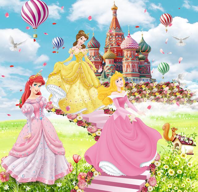 白雪公主卡通背景墙图片 psd