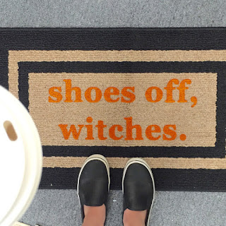 shoes off witches doormat halloween decorations