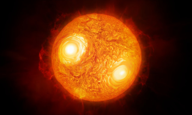 Artist's impression of the red supergiant star Antares