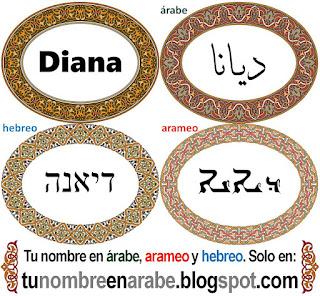 Nombre de Diana en hebreo para tatuajes